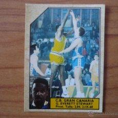 Coleccionismo deportivo: CROMO CONVERSE BALONCESTO 1988 89 Nº 90 EVERETT STEWART (C B GRAN CANARIA) - BASKET 1988 89. Lote 104307616