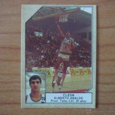 Coleccionismo deportivo: CROMO CONVERSE BALONCESTO 1988 89 Nº 70 ABALDE (CLESA FERROL) - BASKET 1988 89. Lote 111043682
