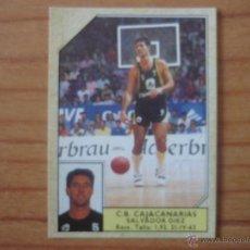 Coleccionismo deportivo: CROMO CONVERSE BALONCESTO 1988 89 Nº 43 SALVA DIEZ (C B CAJACANARIAS) - BASKET 1988 89. Lote 210224463