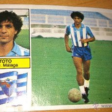 Coleccionismo deportivo: FICHAJE Nº19 TOTO ( MALAGA ) DESPEGADO ESTE. TEMP 1982/1983 82/83. Lote 42865198