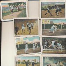 Coleccionismo deportivo: DEPORTES.LOTE DE 79 CROMOS (6X8,5) CHOCOLATE GIRALDA - SEVILLA AÑOS 20. RAROS.. Lote 43580423