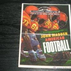 Coleccionismo deportivo: BOLLYCAO SEGA 1992 : 55. JOHN MADDEN AMERICAN FOOTBALL . Lote 43885111
