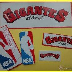 Coleccionismo deportivo: LOTE CROMOS PEGATINAS GIGANTES DEL BASKET. LOGOTIPOS NBA Y REVISTA GIGANTES. Lote 44119028