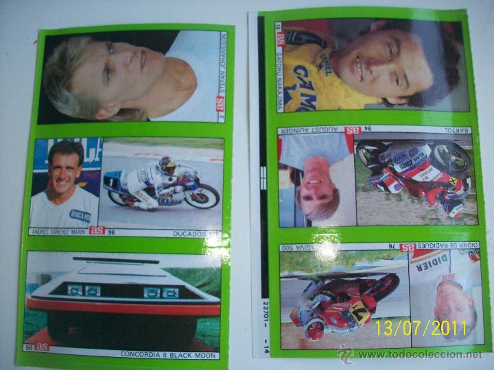 2 CROMOS AS CON 6 CROMOS DISTINTOS. SATORU NAKAJIMA, AUGUST AUINGER, ET... (Coleccionismo Deportivo - Cromos otros Deportes)