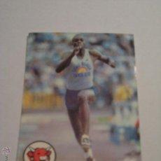 Coleccionismo deportivo: CROMO LA VACA QUE RIE CARL LEWIS USA ATLETISMO SALTO DE LONGITUD. Lote 45711312