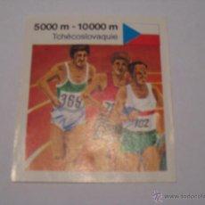 Coleccionismo deportivo: CROMO LA VACA QUE RIE TCHÉCOSLOVAQUIE 5000 M - 10000 M LA HISTORIA DE UN RECORD. Lote 45711436