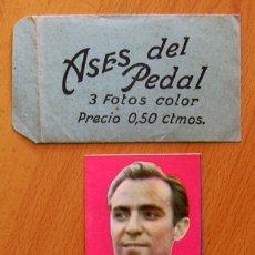 Coleccionismo deportivo: ASES DEL PEDAL - ALBUM AUTÓGRAFO - 1 SOBRE VACIO Y 1 CROMO DE TIMONER. Lote 46208106