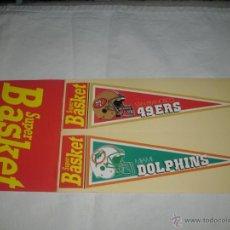 Coleccionismo deportivo: PEGATINA REVISTA SUPER BASKET : SAN FRANCISCO 49ERS & MIAMI DOLPHINS -- AÑOS 80 --. Lote 46790935