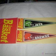 Coleccionismo deportivo: PEGATINA REVISTA SUPER BASKET : NEW YORK JETS & CLEVELAND BROWNS -- AÑOS 80 --. Lote 46790944