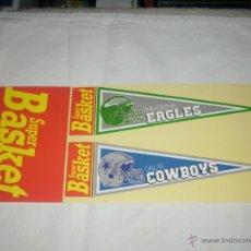 Coleccionismo deportivo: PEGATINA REVISTA SUPER BASKET : PHILADELPHIA EAGLES & DALLAS COWBOYS -- AÑOS 80 --. Lote 46790966