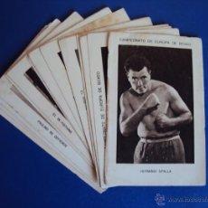 Coleccionismo deportivo: (CHO-215)COLECCION COMPLETA DE 21 CROMOS CAMPEONATO DE EUROPA DE BOXEO. Lote 47188274