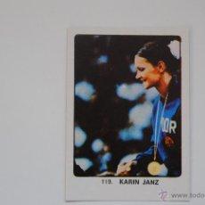 Coleccionismo deportivo: CROMO KEISA CAMPEONES DEL DEPORTE MUNDIAL KARIN JANZ Nº 119 NUNCA PEGADO. Lote 47466704