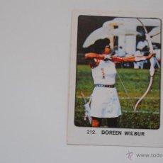 Coleccionismo deportivo: CROMO KEISA CAMPEONES DEL DEPORTE MUNDIAL DOREEN WILBUR Nº 212 NUNCA PEGADO. Lote 47466902