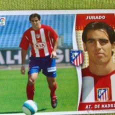 Coleccionismo deportivo: EDICIONES ESTE FICHAJE 38 JURADO ATLETICO DE MADRID NUEVO SIN PEGAR.06 07 2006 2007. Lote 48543215