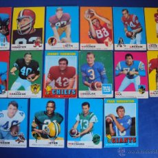 Coleccionismo deportivo: (F-0690)LOTE DE 16 CROMOS DE FUTBOL AMERICANO,AÑOS 60-70. Lote 49669148