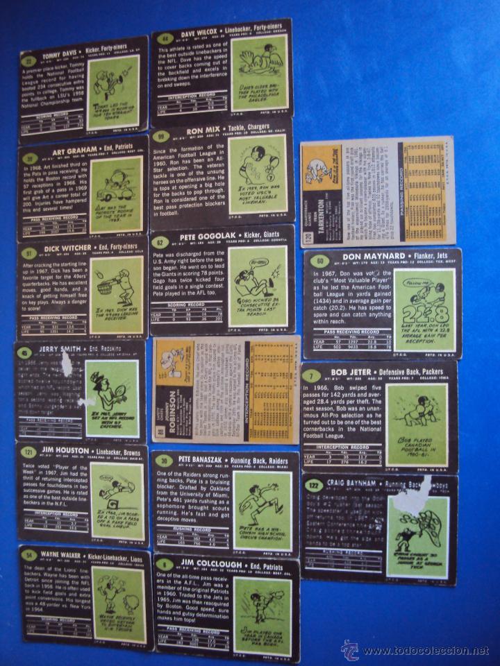 Coleccionismo deportivo: (F-0690)LOTE DE 16 CROMOS DE FUTBOL AMERICANO,AÑOS 60-70 - Foto 5 - 49669148