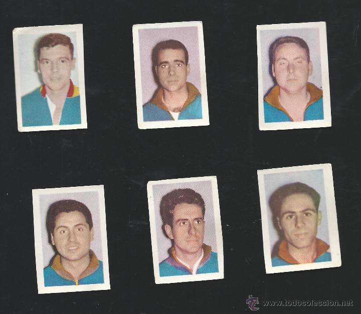 7363 - 6 CROMOS LIGA 64/65- RUIZ ROMERO- SELECCION ESPAÑOLA DE HOCKEY SOBRE PATINES (Coleccionismo Deportivo - Cromos otros Deportes)