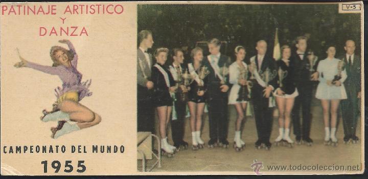 8530- CROMO BRILLANTE CHOCOLATES BATANGA- CAMPEONATO DEL MUNDO DE PATINAJE ARTISTICO Y DANZA-1955 (Coleccionismo Deportivo - Cromos otros Deportes)