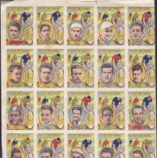 Coleccionismo deportivo: LOTE DE 50 CROMOS ASES DEL PEDAL TIMONER COPPI POBLET . Lote 52788780