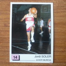 Coleccionismo deportivo: CROMO ALBUM PANINI BASKET 91 LIGA ACB Nº 14 JORDI SOLER (ZUMOS JUVER) BALONCESTO 1990 1991 SIN PEGAR. Lote 144121038