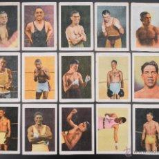 Coleccionismo deportivo: COLECCION COMPLETA 38 CROMOS DE BOXEO - RICARDO ZAMORA Y UZCUDUN. Lote 54411122