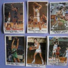 Coleccionismo deportivo: 6 CROMOS BASKET- CROMOS BOLLYCAO 88 - 89 ANTES PEGADOS. Lote 54908539