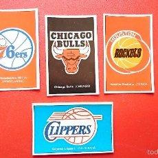 Coleccionismo deportivo: LOTE DE 4 CROMO PEGATINA STICKER NBA GIGANTES DEL BASKET AÑOS 80. Lote 55126925