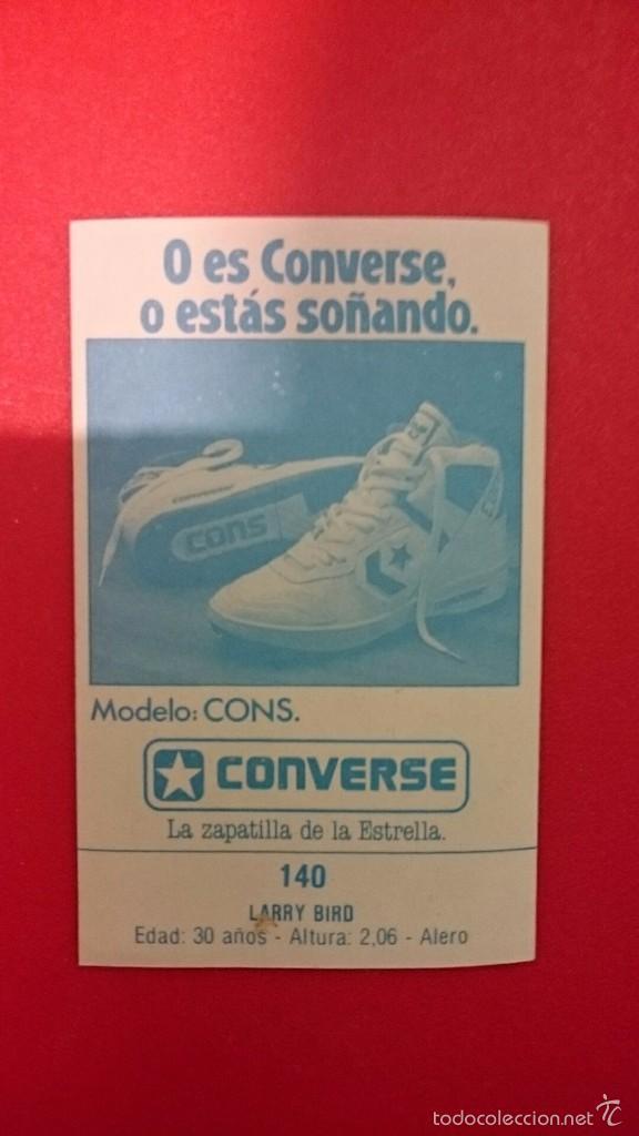 Coleccionismo deportivo: Cromo sticker pegatina Larry Bird Gigantes del basket converse años 80 muy difícil - Foto 2 - 55161079