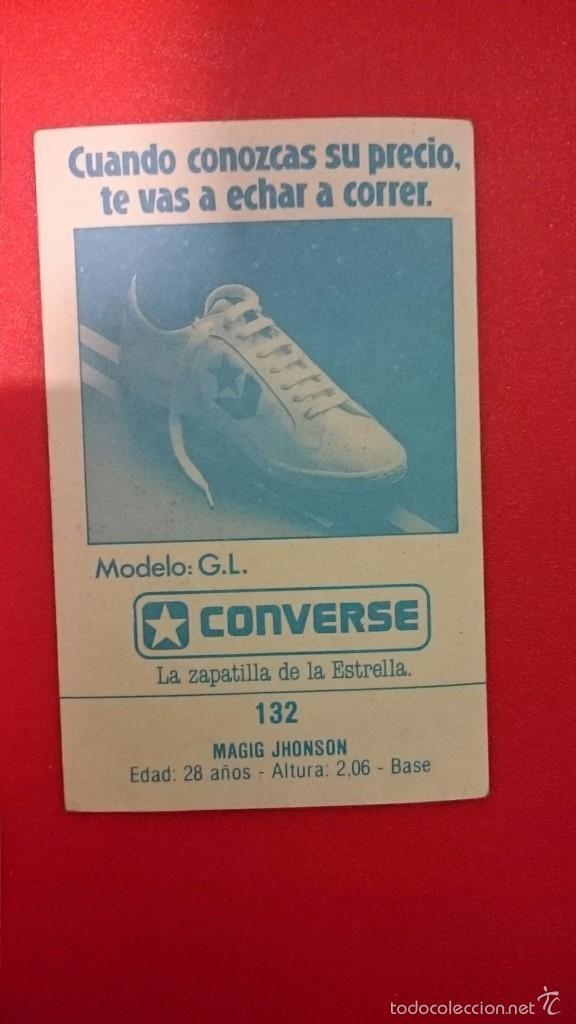 Coleccionismo deportivo: Cromo pegatina sticker Magic Johnson Gigantes del basket converse años 80 muy difícil - Foto 2 - 55161125