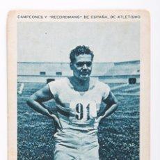 Coleccionismo deportivo: CROMO CAMPEONES Y RECORDMANS DE ESPAÑA DE ATLETISMO -F.GARCIA DOCTOR- Nº 16. Lote 55360604