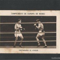Coleccionismo deportivo: BOXEO-CAMPEONATO EUROPA PESOS FUERTES-12 -HERMINIO SPALLA - PAULINO UZCUDUN-MIDE 7X11 CM.(V-5197). Lote 56205370