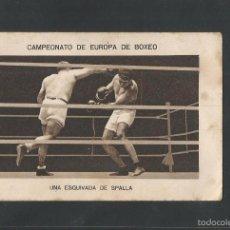 Coleccionismo deportivo: BOXEO-CAMPEONATO EUROPA PESOS FUERTES-14 -HERMINIO SPALLA - PAULINO UZCUDUN-MIDE 7X11 CM.(V-5198). Lote 56205395