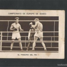 Coleccionismo deportivo: BOXEO-CAMPEONATO EUROPA PESOS FUERTES-17 -HERMINIO SPALLA - PAULINO UZCUDUN-MIDE 7X11 CM.(V-5199). Lote 56205407