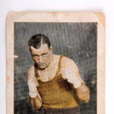 Coleccionismo deportivo: CROMO DE BOXEO JACK SARKEY CHOCOLATE AMATLLER. Lote 56205859