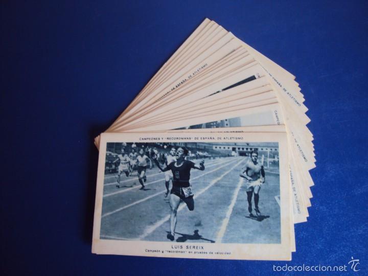 (CHO-304)COLECCION COMPLETA DE 21 CROMOS CAMPEONES Y RECORDMANS DE ESPAÑA DE ATLETISMO (Coleccionismo Deportivo - Cromos otros Deportes)