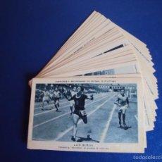 Coleccionismo deportivo: (CHO-304)COLECCION COMPLETA DE 21 CROMOS CAMPEONES Y RECORDMANS DE ESPAÑA DE ATLETISMO. Lote 56630718