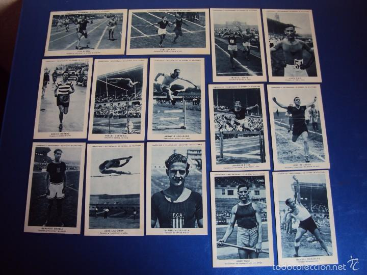 Coleccionismo deportivo: (CHO-304)COLECCION COMPLETA DE 21 CROMOS CAMPEONES Y RECORDMANS DE ESPAÑA DE ATLETISMO - Foto 3 - 56630718
