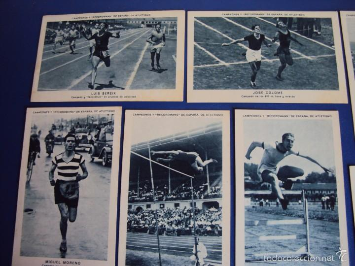 Coleccionismo deportivo: (CHO-304)COLECCION COMPLETA DE 21 CROMOS CAMPEONES Y RECORDMANS DE ESPAÑA DE ATLETISMO - Foto 4 - 56630718