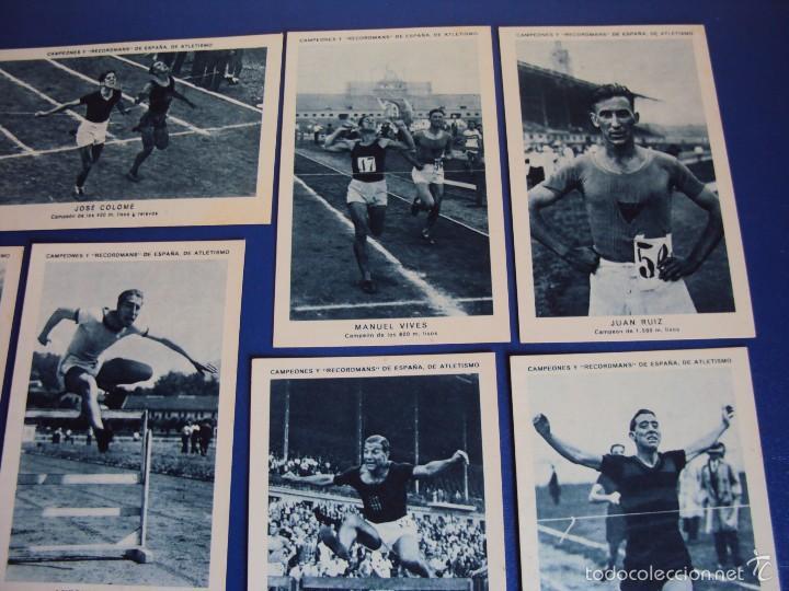 Coleccionismo deportivo: (CHO-304)COLECCION COMPLETA DE 21 CROMOS CAMPEONES Y RECORDMANS DE ESPAÑA DE ATLETISMO - Foto 5 - 56630718