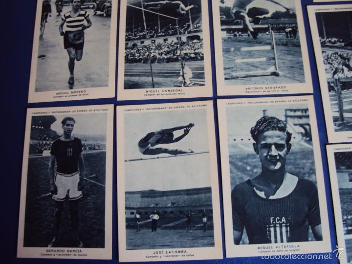 Coleccionismo deportivo: (CHO-304)COLECCION COMPLETA DE 21 CROMOS CAMPEONES Y RECORDMANS DE ESPAÑA DE ATLETISMO - Foto 6 - 56630718