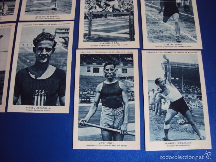 Coleccionismo deportivo: (CHO-304)COLECCION COMPLETA DE 21 CROMOS CAMPEONES Y RECORDMANS DE ESPAÑA DE ATLETISMO - Foto 7 - 56630718