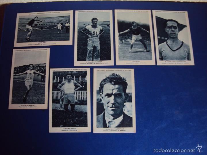Coleccionismo deportivo: (CHO-304)COLECCION COMPLETA DE 21 CROMOS CAMPEONES Y RECORDMANS DE ESPAÑA DE ATLETISMO - Foto 8 - 56630718