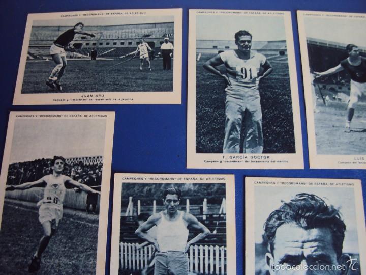 Coleccionismo deportivo: (CHO-304)COLECCION COMPLETA DE 21 CROMOS CAMPEONES Y RECORDMANS DE ESPAÑA DE ATLETISMO - Foto 9 - 56630718