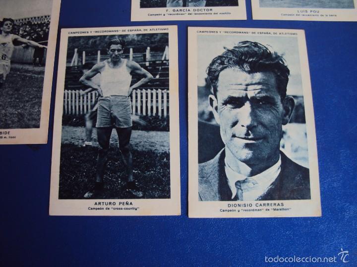 Coleccionismo deportivo: (CHO-304)COLECCION COMPLETA DE 21 CROMOS CAMPEONES Y RECORDMANS DE ESPAÑA DE ATLETISMO - Foto 10 - 56630718