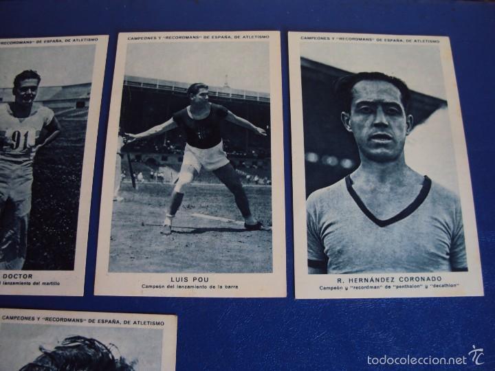 Coleccionismo deportivo: (CHO-304)COLECCION COMPLETA DE 21 CROMOS CAMPEONES Y RECORDMANS DE ESPAÑA DE ATLETISMO - Foto 11 - 56630718