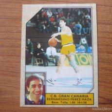 Coleccionismo deportivo: CROMO CONVERSE BALONCESTO 1988 89 Nº 86 BERNARDINO PEREZ (GRAN CANARIA) - BASKET 1988 89. Lote 104308292