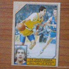 Coleccionismo deportivo: CROMO CONVERSE BALONCESTO 1988 89 Nº 87 JUAN MENDEZ (GRAN CANARIA) - BASKET 1988 89. Lote 104308312
