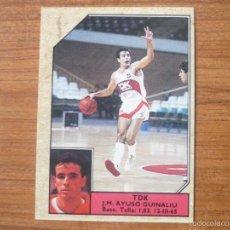 Coleccionismo deportivo: CROMO CONVERSE BALONCESTO 1988 89 Nº 149 AYUSO (TDK MANRESA) - BASKET 1988 89. Lote 175431034