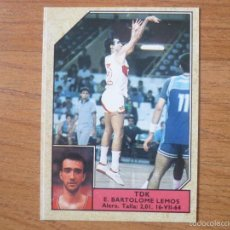 Coleccionismo deportivo: CROMO CONVERSE BALONCESTO 1988 89 Nº 172 BARTOLOME (TDK MANRESA) - BASKET 1988 89. Lote 136043976