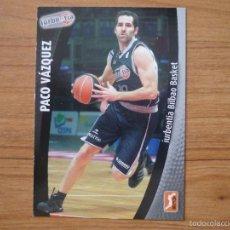 Coleccionismo deportivo: BALONCESTO ACB 2008 2009 PANINI Nº 132 PACO VAZQUEZ (IURBENTIA BILBAO) - BASKET CROMO 08 09 . Lote 156199998